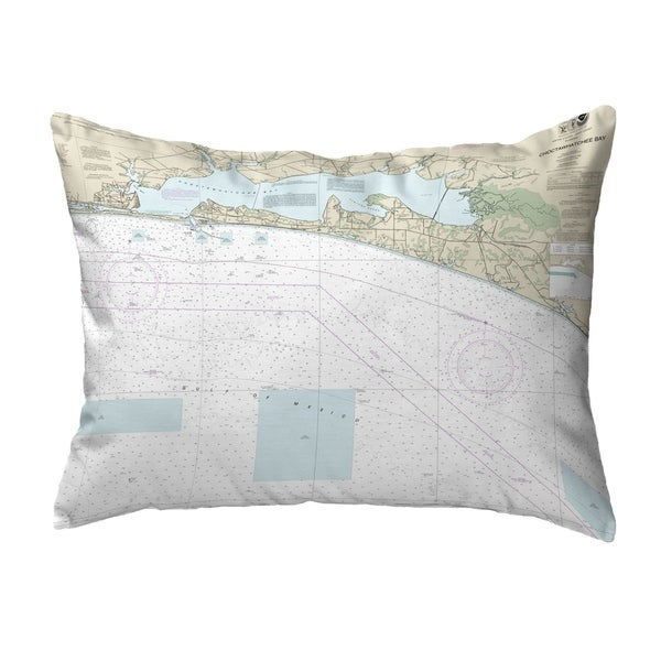 Choctawhatchee Bay, FL Nautical Map Noncorded Pillow 11x14
