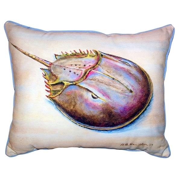 Horseshoe Crab Small Outdoor/Indoor Pillow 11x14