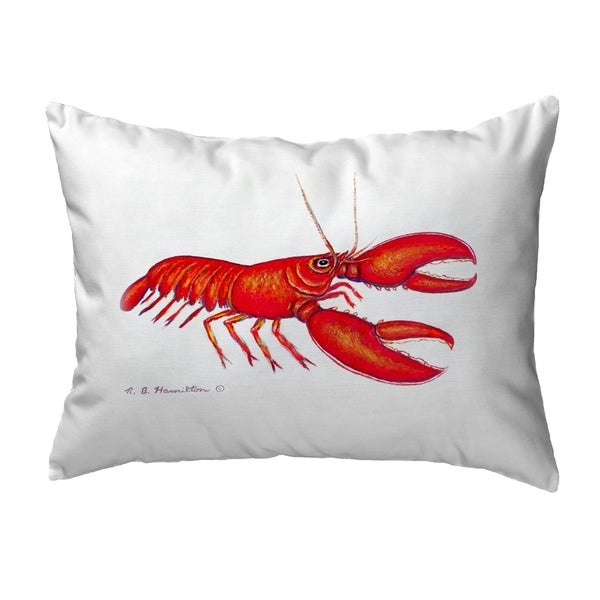 Red Lobster Small No-Cord Pillow 11x14