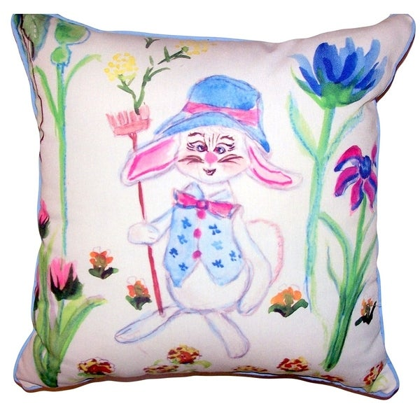 Mrs. Farmer Small Outdoor/Indoor Pillow 12x12