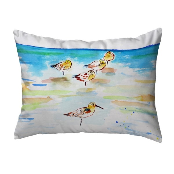 Five Sanderlings Noncorded Pillow 11x14