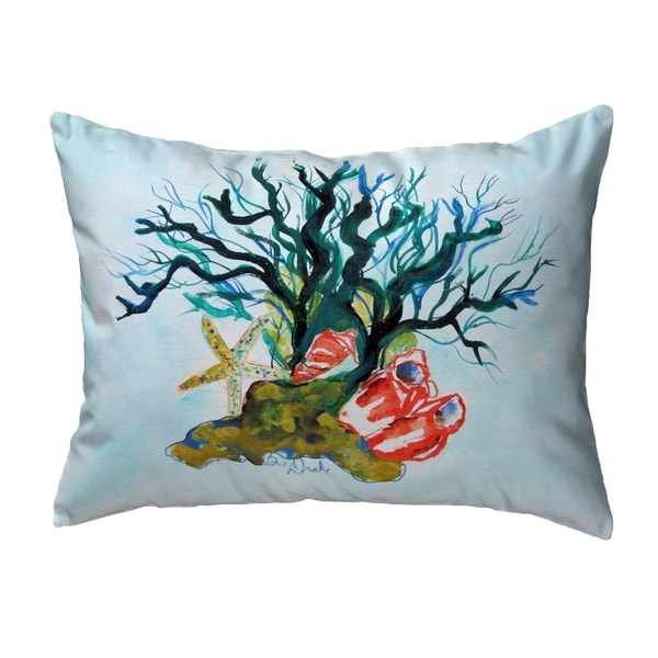 Starfish Coral Shells Noncorded Pillow 11x14