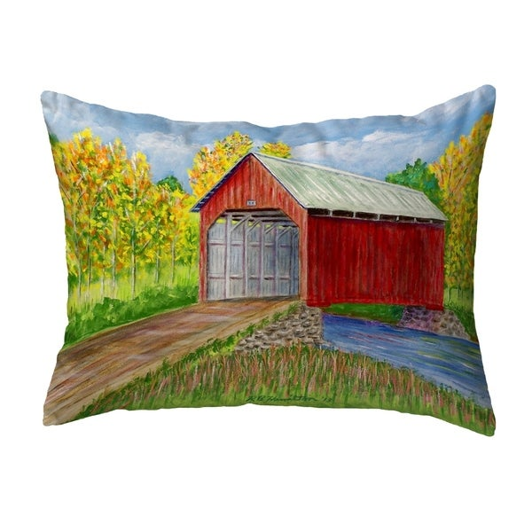 Dick's Covered Bridge Small No-Cord Pillow 11x14