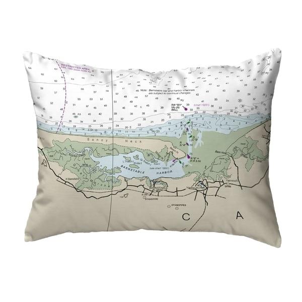 Cape Cod - Sandy Neck, MA Nautical Map Noncorded Pillow 11x14