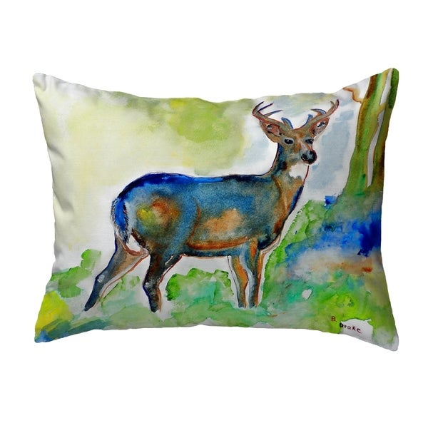 Betsy's Deer Small No-Cord Pillow 11x14