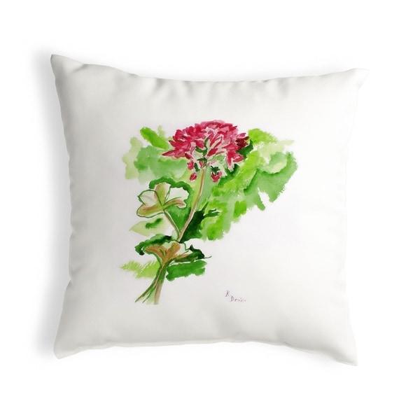 Geranium Small No-Cord Pillow 12x12