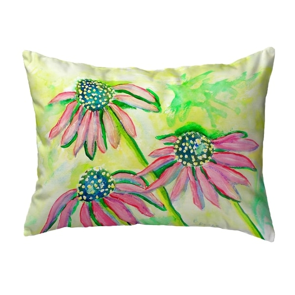Cone Flowers Small No-Cord Pillow 11x14
