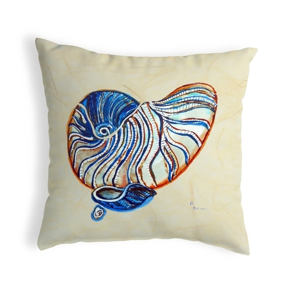 Betsty's Nautilus Small No-Cord Pillow 12x12