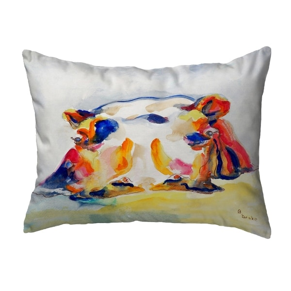 Hippo Small No-Cord Pillow 11x14