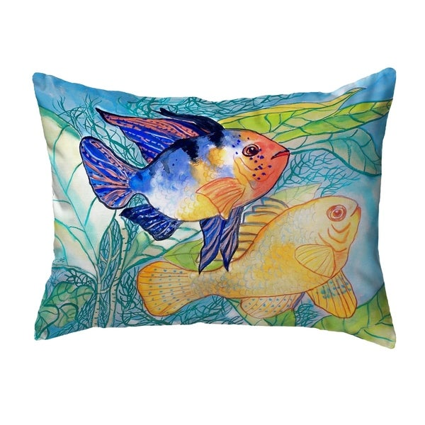 Betsy's Two Fish Small No-Cord Pillow 11x14