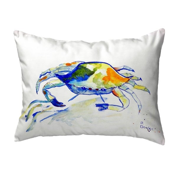 Yellow Crab Small No-Cord Pillow 11x14