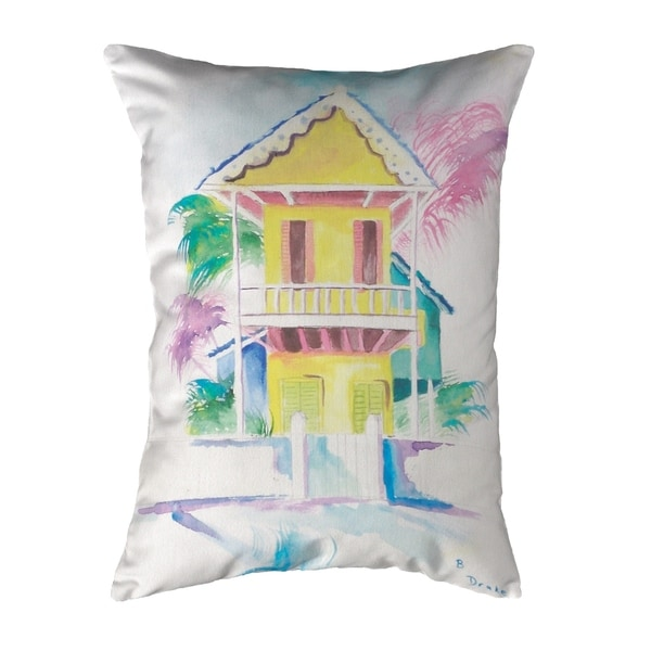 W. Palm Hut Yellow Small No-Cord Pillow 11x14