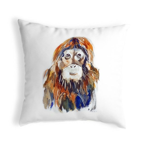 Orangutan Small No-Cord Pillow 12x12