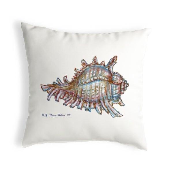 Conch Small No-Cord Pillow 12x12
