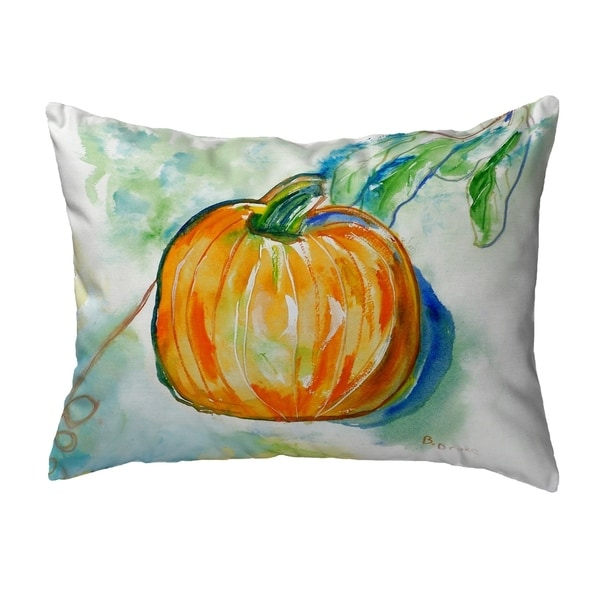 Pumpkin Small No-Cord Pillow 11x14