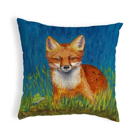 Red Fox Small No-Cord Pillow 12x12