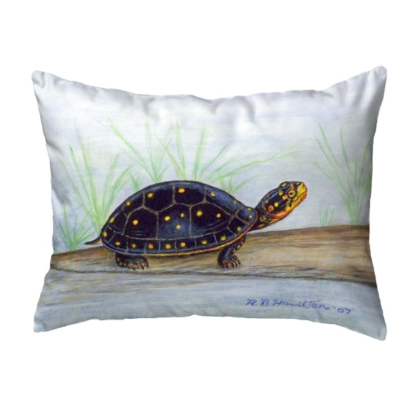 Spotted Turtle Small No-Cord Pillow 11x14
