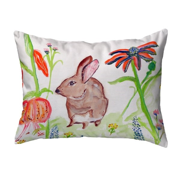 Brown Rabbit Left Small No-Cord Pillow 11x14