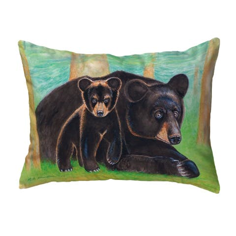 Bear & Cub Small No-Cord Pillow 11x14