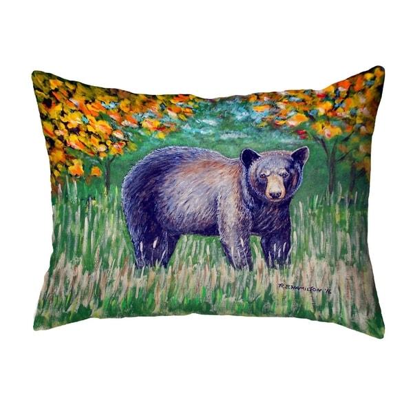 Black Bear Small No-Cord Pillow 11x14