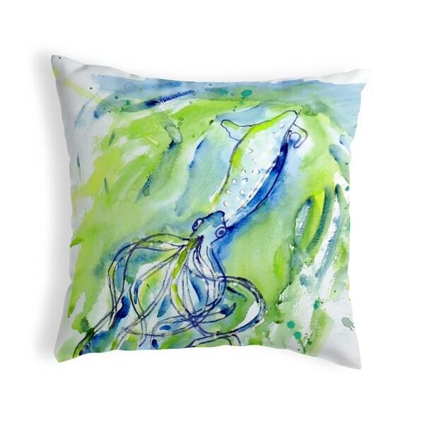 Calamari Small No-Cord Pillow 12x12