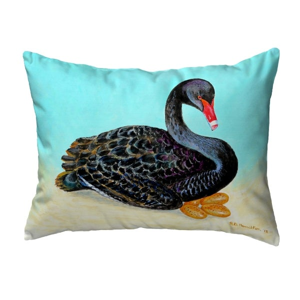 Black Swan Noncorded Pillow 11x14