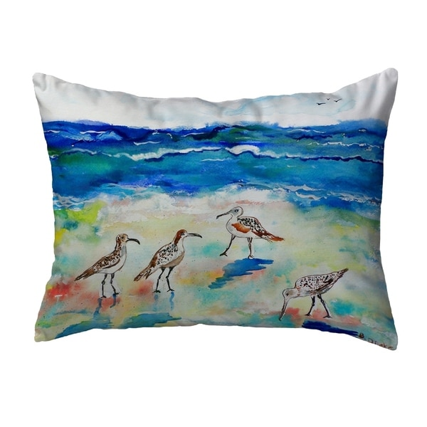 Betsy's Sandpipers Small No-Cord Pillow 11x14