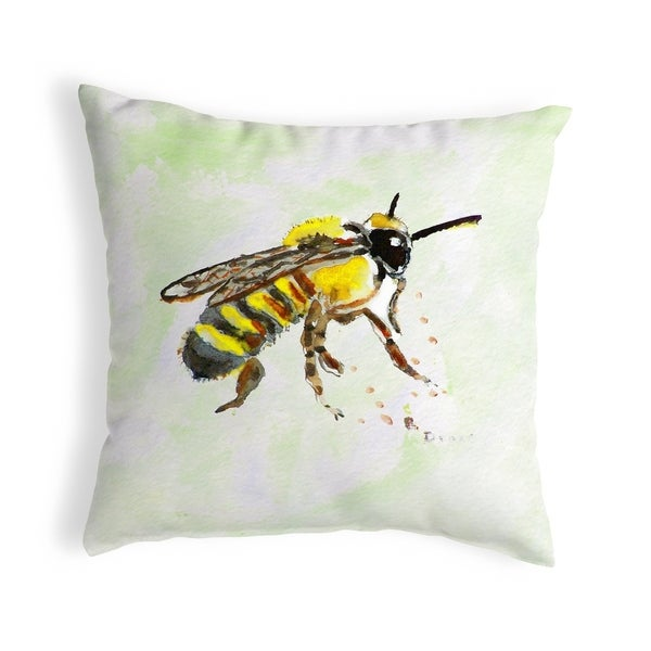 Bee Small No-Cord Pillow 12x12