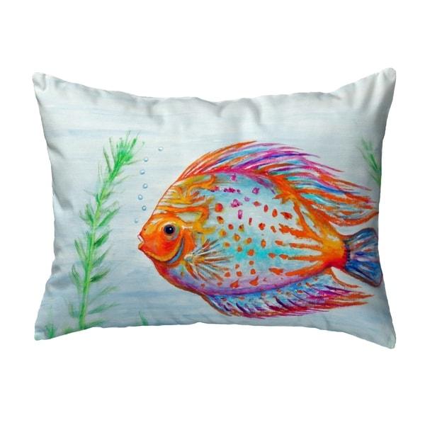 Orange Fish Small No-Cord Pillow 11x14