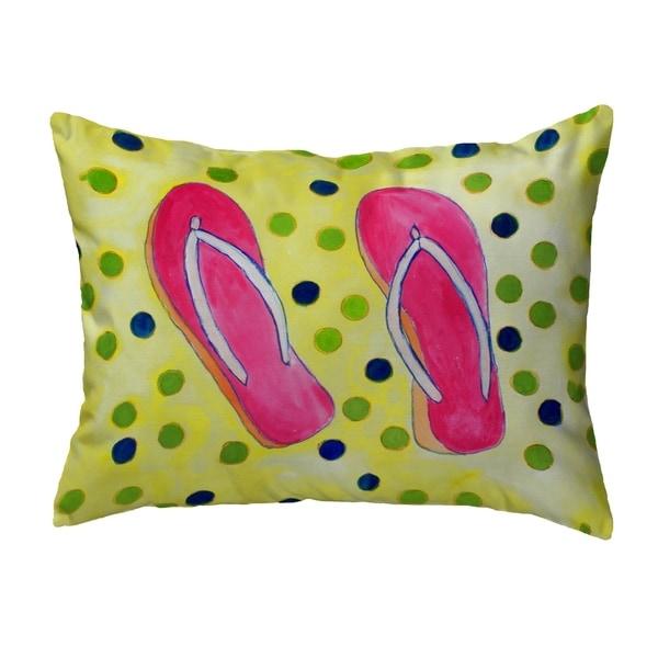 Flip Flops Small No-Cord Pillow 11x14