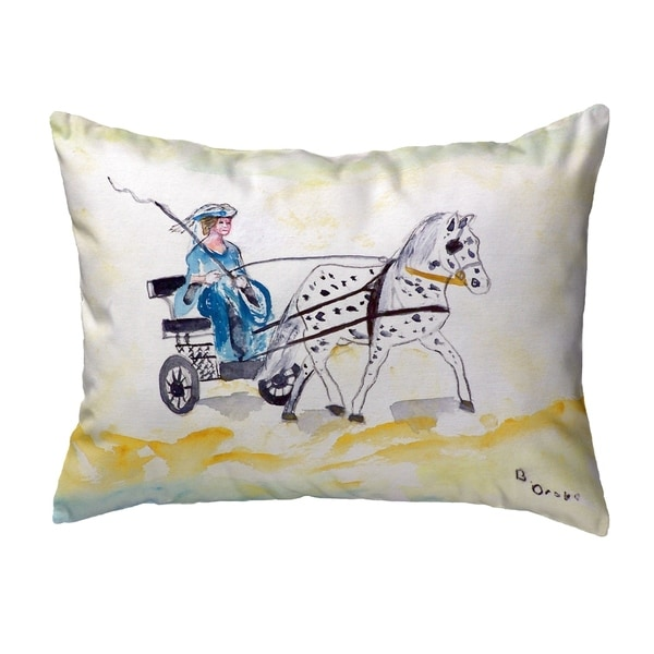 Carriage & Horse Small No-Cord Pillow 11x14