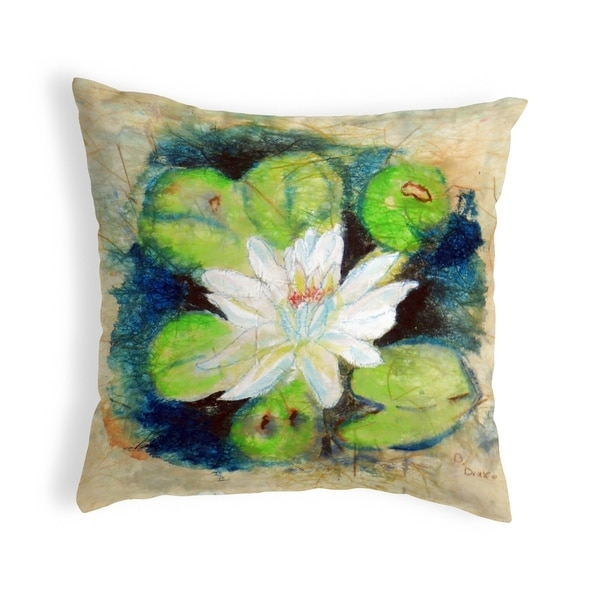 Water Lily on Rice Small No-Cord Pillow 12x12