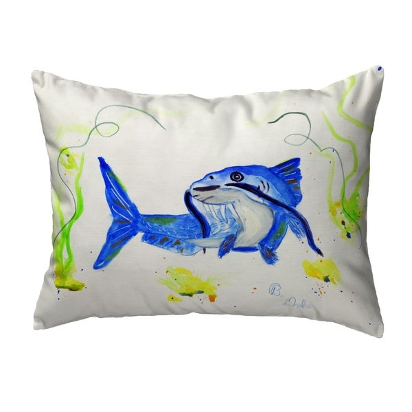 Betsy's Catfish Noncorded Pillow 11x14