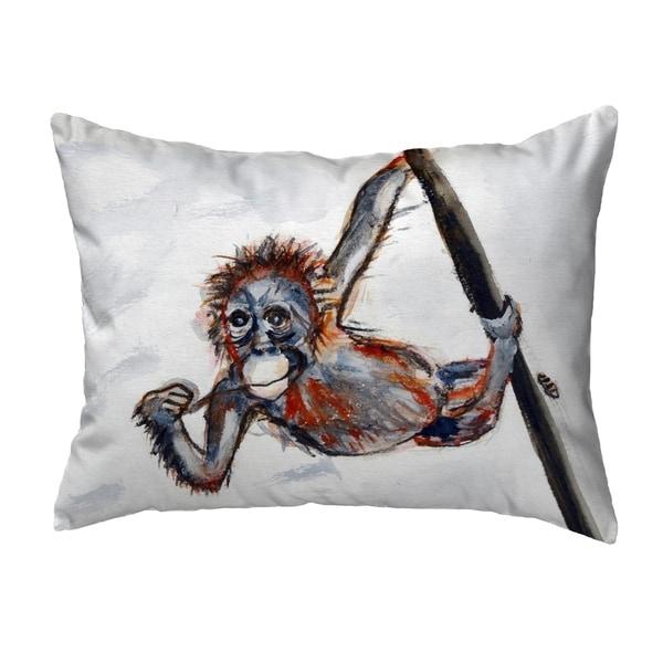Betsy's Monkey Small No-Cord Pillow 11x14