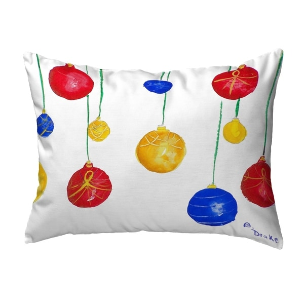 Christmas Ornaments Small No-Cord Pillow 11x14