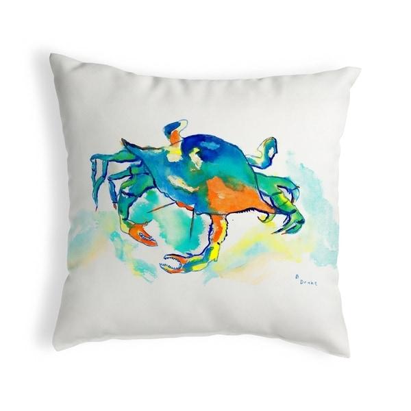 Orange Crab Small No-Cord Pillow 12x12