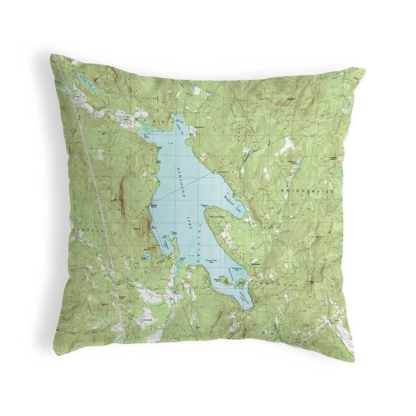 Newfound Lake, NH Nautical Map Noncorded Pillow 12x12