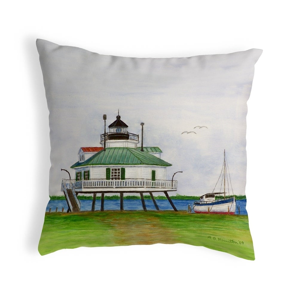 Hopper Strait Lighthouse Small No Cord Pillow 11x14 Knife Edge Accent Nautical Coastal On Overstock Com Ibt Shop