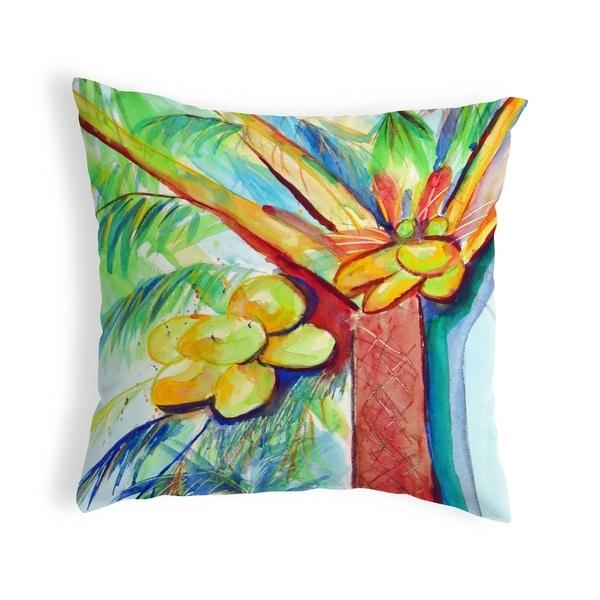 Cocoa Nut Tree Small No-Cord Pillow 12x12