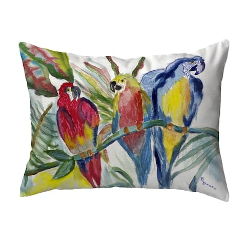 Parrot Family Small No-Cord Pillow 11x14
