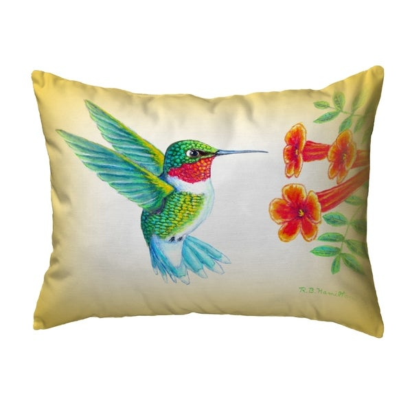 Dick's Hummingbird Extra Large Zippered Pillow 11x14