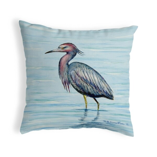 Dick's Little Blue Heron Small No-Cord Pillow 12x12