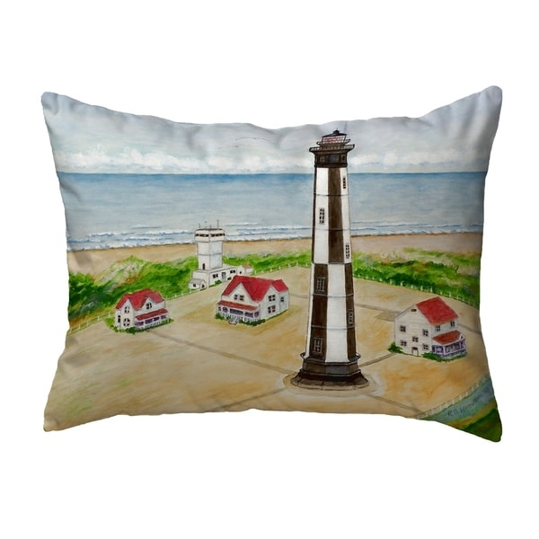 Cape Henry Lighthouse Small No-Cord Pillow 11x14