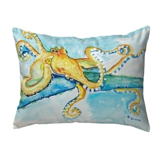Gold Octopus Small No-Cord Pillow 11x14