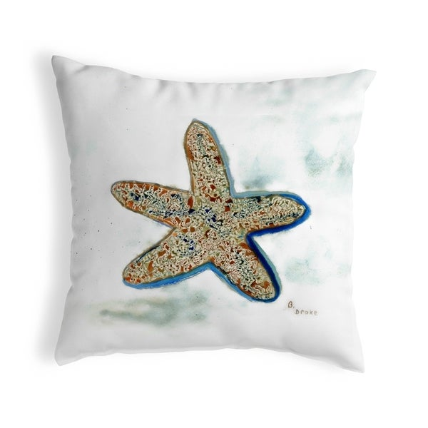 Betsy's Starfish Small No-Cord Pillow 12x12