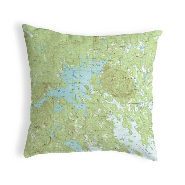 Squam Lake, NH Nautical Map Noncorded Pillow 12x12