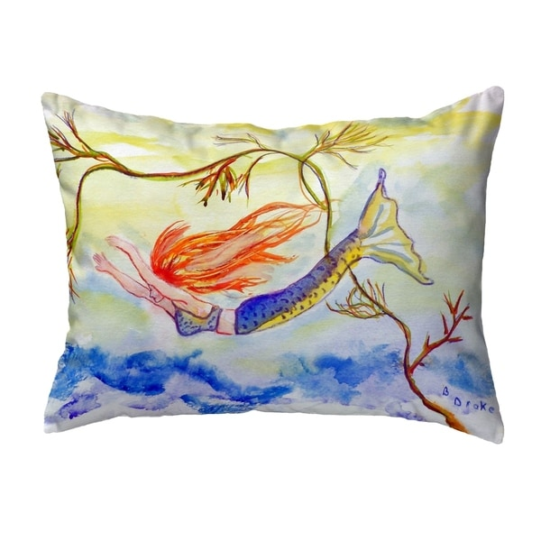 Diving Mermaid Small No-Cord Pillow 11x14