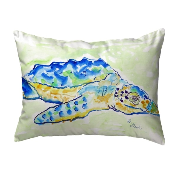 Loggerhead Turtle Small No-Cord Pillow 11x14