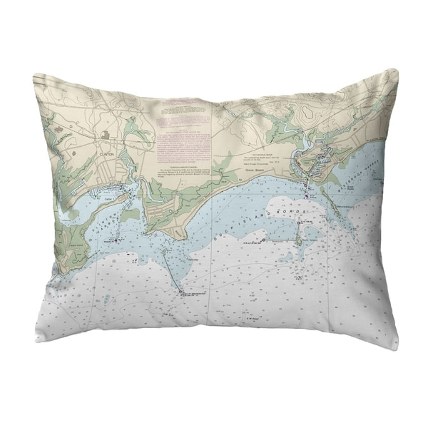 Clinton Harbor to Westbrook Harbor, CT Nautical Map Noncorded Pillow 11x14