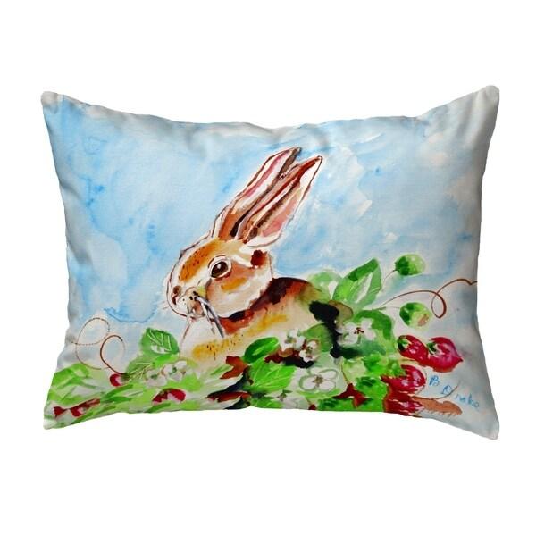 Jack Rabbit Left Small No-Cord Pillow 11x14